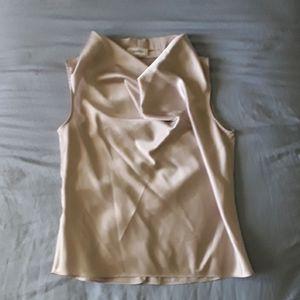 Calvin Klein Silk Wrap-Neck Top